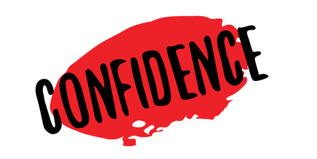 Confidence rubber stamp. Grunge design with dust scratches. Effects can be easily removed for a clean, crisp look.