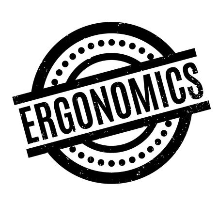 Ergonomics rubber stamp. Grunge design with dust scratches. Effects can be easily removed for a clean, crisp look.