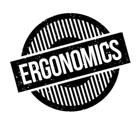 Ergonomie rubberen stempel. Grungeontwerp met stofkrassen. Effecten kunnen eenvoudig worden verwijderd voor een schone, heldere look. Stock Illustratie