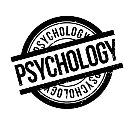 Psychology rubber stamp. Grunge design with dust scratches. Effects can be easily removed for a clean, crisp look. Color is easily changed. Stock Vector - 88927674