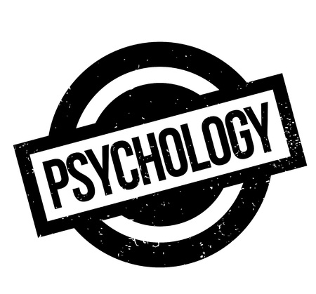 Psychology rubber stamp. Grunge design with dust scratches. Effects can be easily removed for a clean, crisp look. Color is easily changed. Illustration