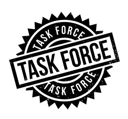 battle plan: Task Force rubber stamp. Grunge design with dust scratches. Effects can be easily removed for a clean, crisp look. Color is easily changed. Illustration