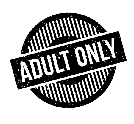 Adult Only rubber stamp. Grunge design with dust scratches. Effects can be easily removed for a clean, crisp look. Color is easily changed. Ilustração