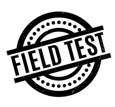 Field Test rubber stamp. Grunge design with dust scratches. Effects can be easily removed for a clean, crisp look. Color is easily changed.