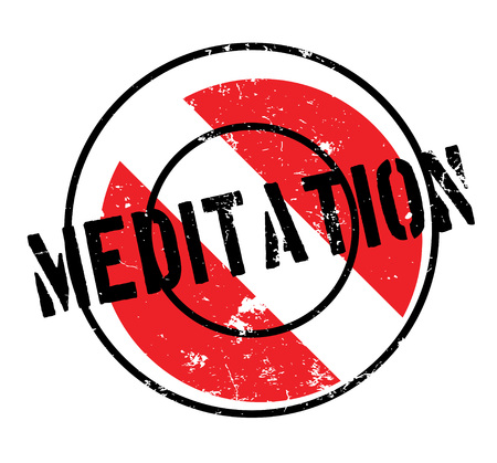 Meditation rubber stamp. Grunge design with dust scratches. Effects can be easily removed for a clean, crisp look. Color is easily changed. Illustration