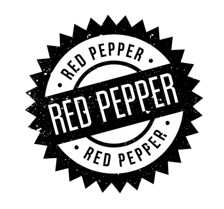 Red Pepper rubber stamp. Grunge design with dust scratches. Effects can be easily removed for a clean, crisp look. Color is easily changed.