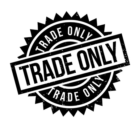 Trade Only rubber stamp. Grunge design with dust scratches. Effects can be easily removed for a clean, crisp look. Color is easily changed. Illustration