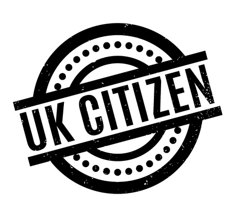 UK Citizen rubber stamp. Grunge design with dust scratches. Effects can be easily removed for a clean, crisp look. Color is easily changed.