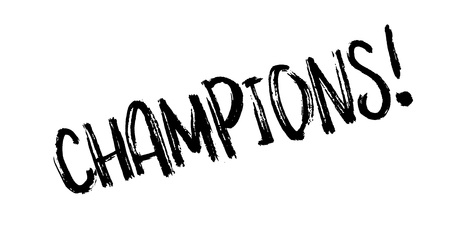 Champions rubber stamp. Grunge design with dust scratches. Effects can be easily removed for a clean, crisp look. Color is easily changed.