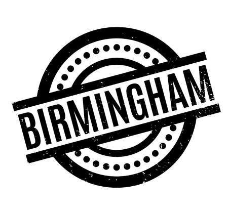 Birmingham rubber stamp. Grunge design with dust scratches. Effects can be easily removed for a clean, crisp look. Color is easily changed.