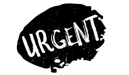 Urgent rubber stamp. Grunge design with dust scratches. Effects can be easily removed for a clean, crisp look. Color is easily changed. Illustration