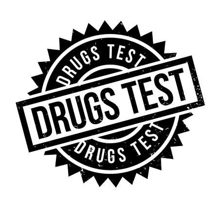 detection: Drugs Test rubber stamp. Grunge design with dust scratches. Effects can be easily removed for a clean, crisp look. Color is easily changed. Illustration