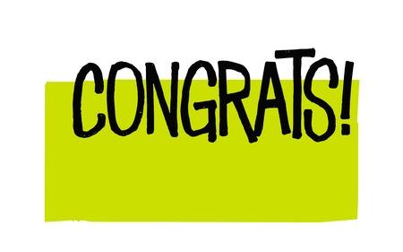 Congrats . Typographic stamp Ilustração