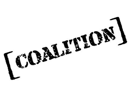 COALITION. Typographic stamp