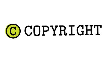 Copyright typographic stamp visualisation concept Original series.