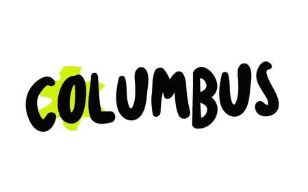 Columbus typographic stamp visualisation concept Original series.