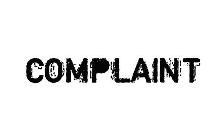 Complaint typographic stamp visualisation concept Original series. Illustration