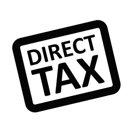 Direct Tax typographic stamp visualisation concept Original series. Ilustracja