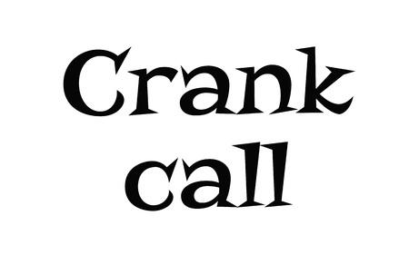 Crank Call typographic stamp visualisation concept Original series. Illustration