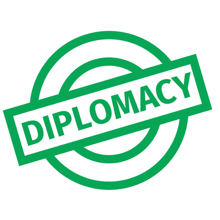 Diplomacy typographic stamp visualisation concept Original series. Çizim