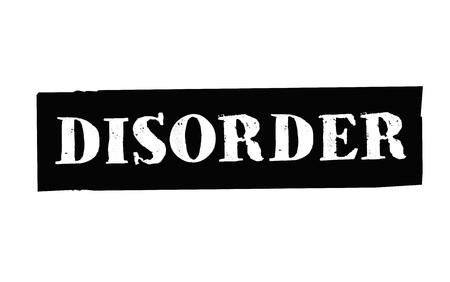 Disorder typographic stamp visualisation concept Original series.