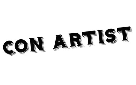 Con Artist typographic stamp visualisation concept Original series.