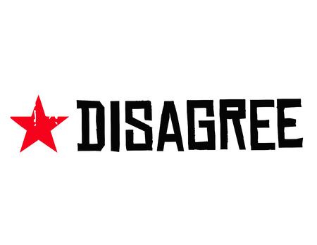 Disagree typographic stamp visualisation concept Original series. Ilustracja