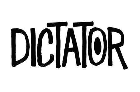 Dictator typographic stamp visualisation concept Original series.