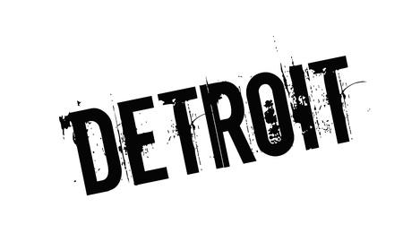 Detroit typographic stamp visualisation concept Original series.