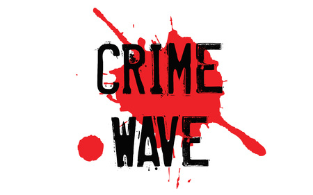 Crime Wave typographic stamp visualisation concept Original series.
