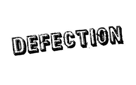 Defection typographic stamp visualisation concept Original series. 矢量图像