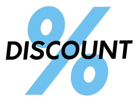 Discount. Typographic stamp