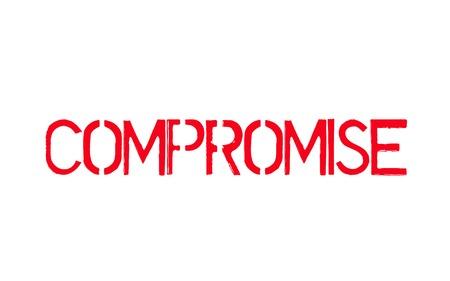 Compromise. Typographic stamp  イラスト・ベクター素材