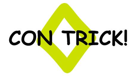 Con Trick . Typographic stamp