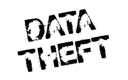 Data Theft. Typographic stamp Иллюстрация
