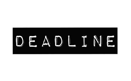 Deadline. Typographic stamp
