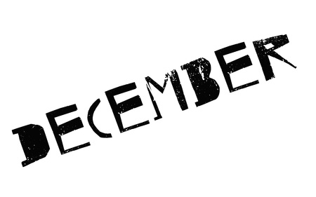 December. Typographic stamp