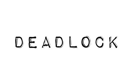 Deadlock. Typographic stamp Illustration