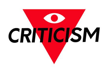 Criticism. Typographic stamp