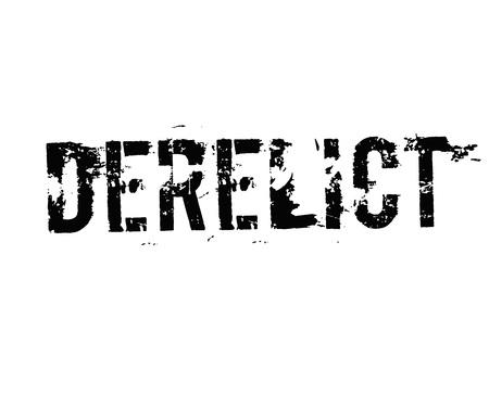Derelict typographic stamp Illustration