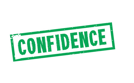 Confidence typographic stamp