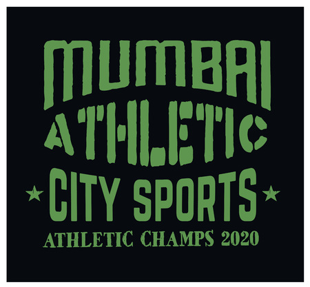Mumbai sport t-shirt design.