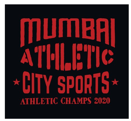Mumbai sport t-shirt design, college sport team style typography for poster, t-shirt or print.