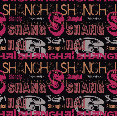 Shanghai city pattern, design for print and media.
