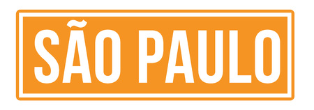 S o Paulo city sign. Road sign with city name on it.  イラスト・ベクター素材