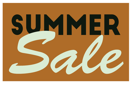 Summer sale typographic poster. Design for retail business, print and web. Illustration