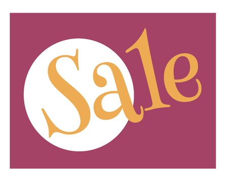 xxxx sale typographic poster. Design for retail business, print and web. Illustration