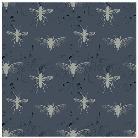 昆虫のパターン。  イラスト・ベクター素材