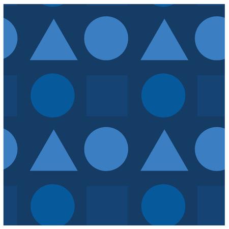Geometric shapes pattern. Illustration