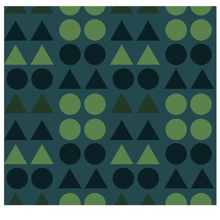 Geometric shapes seamless pattern for web, textile and print.